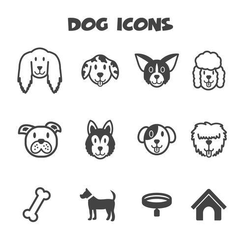 symbole d'icônes de chien vecteur