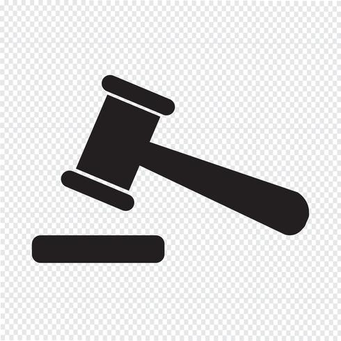illustration d'icône de vente aux enchères vecteur