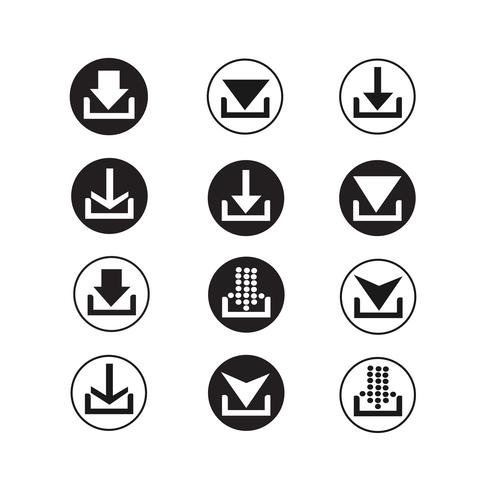 jeu d'icônes de signe de flèche vecteur
