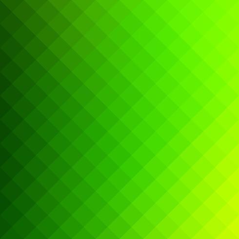Fond de mosaïque de grille carrée verte, modèles de conception créative vecteur