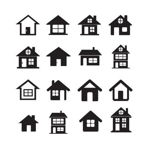 House Icon Real Estate Set pour le site web vecteur
