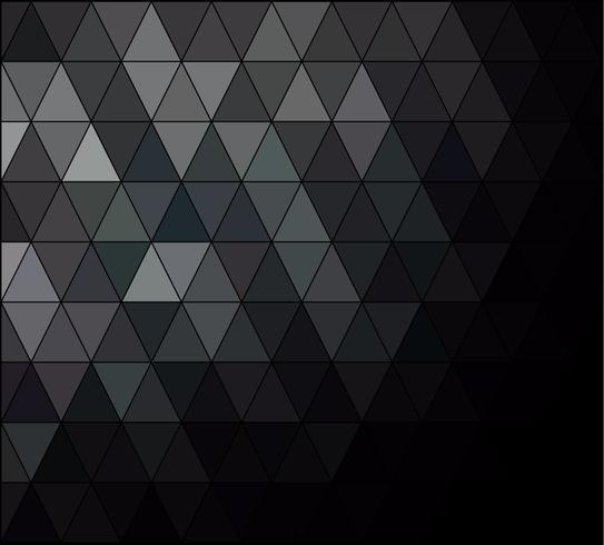 Fond de mosaïque de grille carrée noire, modèles de conception créative vecteur