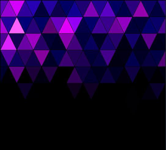 Fond de mosaïque grille carrée violet, modèles de conception créative vecteur