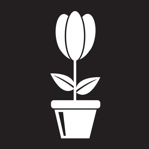signe de symbole icône fleur vecteur