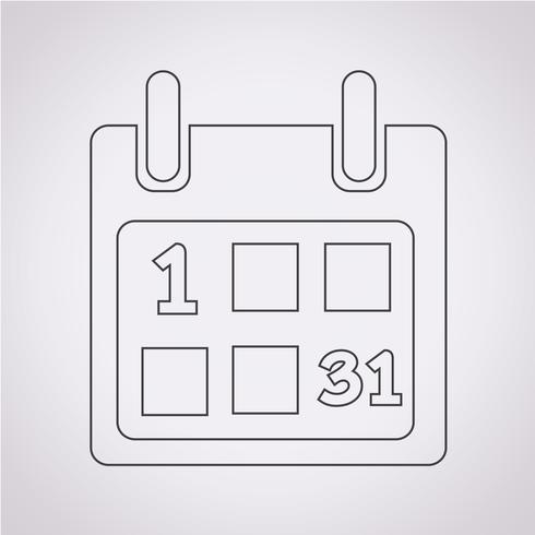 Calendrier symbole signe vecteur