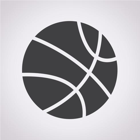 Signe de symbole icône basket vecteur