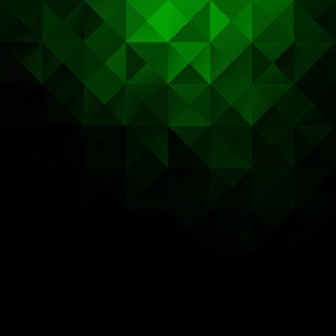 Fond de mosaïque de grille verte, modèles de conception créative vecteur