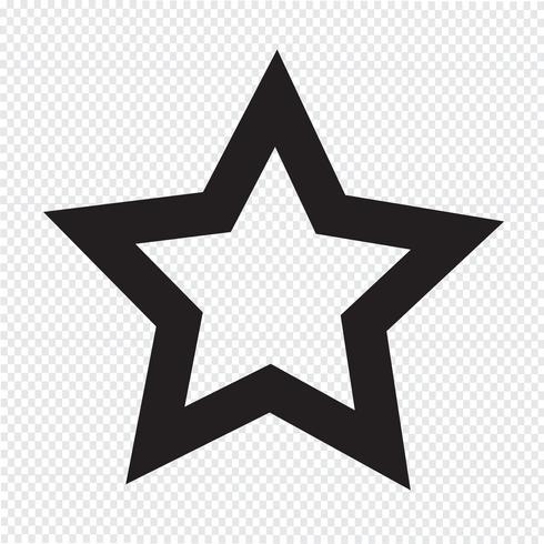 signe symbole icône étoile vecteur