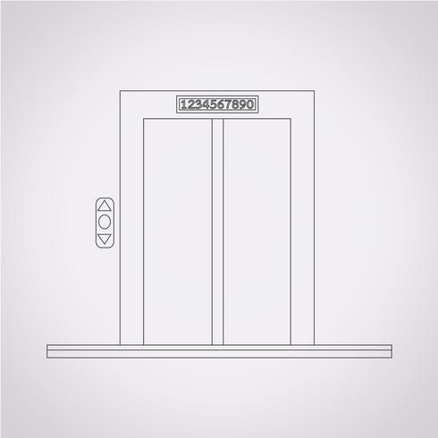 symbole d'icône d'ascenseur vecteur