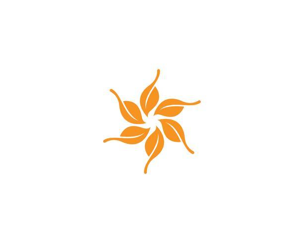 écologie logo nature élément vecteur