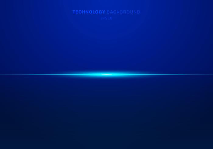 Éléments abstraits bleu lignes laser lumière horizontales sur fond sombre. Style de la technologie. vecteur