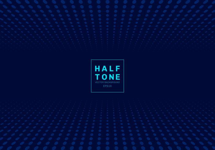 Résumé de la lumière dot motif demi-teinte design concept fond bleu foncé avec espace pour texte vecteur