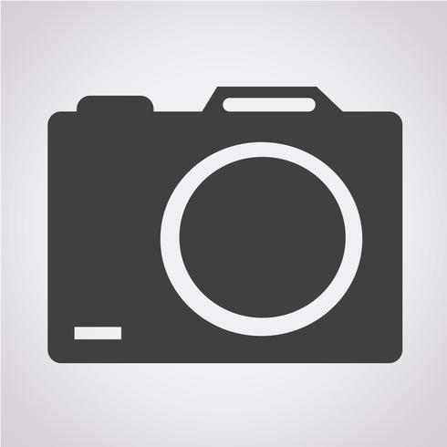 signe de symbole icône caméra vecteur