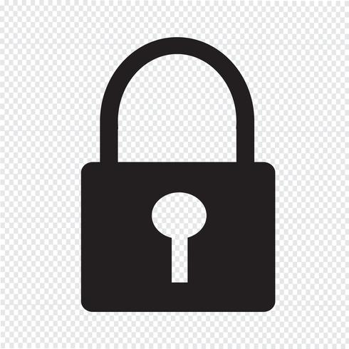 Symbole de verrou icône vecteur