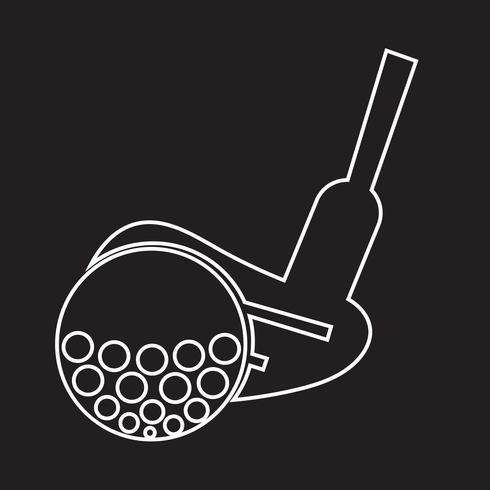 Signe symbole icône golf vecteur