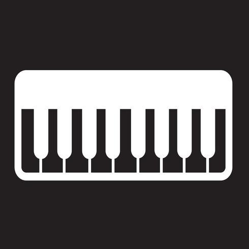 Signe symbole icône piano vecteur