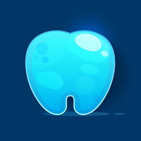Icône de la dent sur l'illustration vectorielle fond blanc vecteur