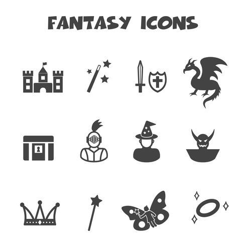 symbole d'icônes fantaisie vecteur