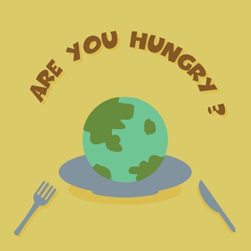 manger la terre vecteur