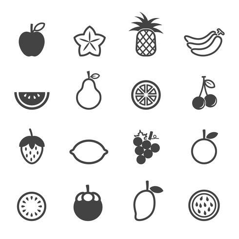 icônes vectorielles de fruits vecteur