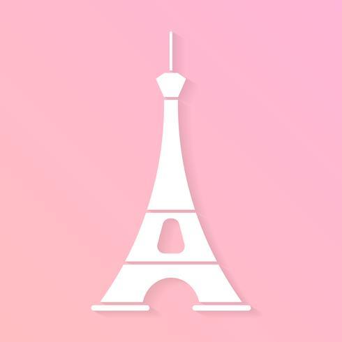 Paris City Vector Skyline dans le style du papier