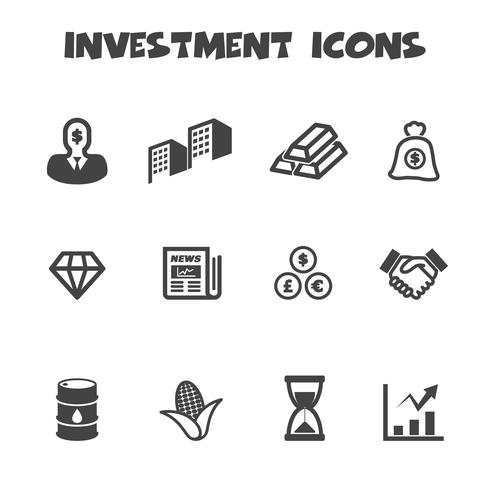 symbole d'icônes d'investissement vecteur
