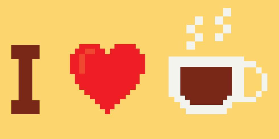 J'aime le café vecteur