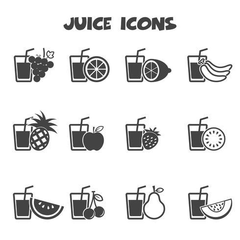 symbole d'icônes de jus vecteur