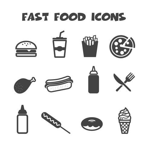 icônes de la restauration rapide vecteur