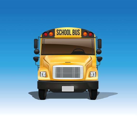 Autobus scolaire américain en vecteur
