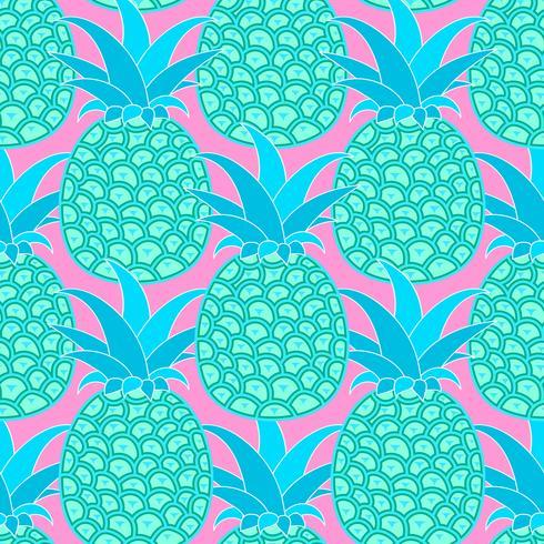 Modèle sans couture d'ananas. Fond tropical. Illustration vectorielle Prêt pour votre conception, carte de voeux vecteur