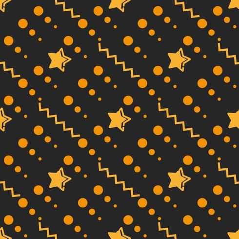 Star Seamless Pattern, étoiles dessinées à la main esquissée Doodle, Illustration vectorielle vecteur