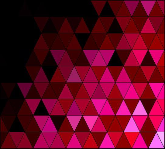 Fond de mosaïque carré rose, Modèles de conception créative vecteur
