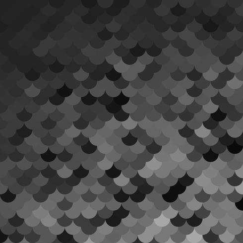 Motif de tuiles de toit noir, modèles de conception créative vecteur