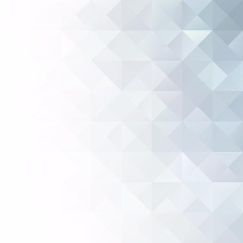Fond de mosaïque de grille blanche grise, modèles de conception créative vecteur