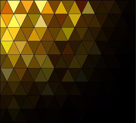 Fond de mosaïque de grille carrée jaune, modèles de conception créative vecteur