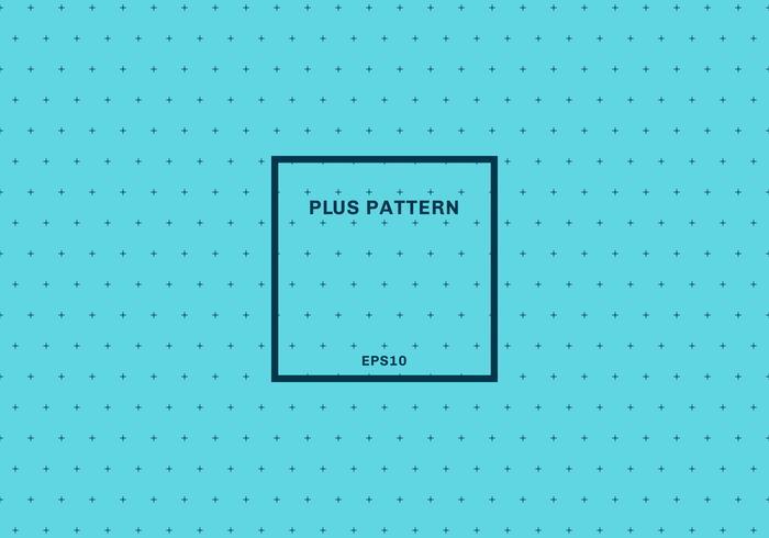 Abstrait bleu croix de fond sans couture. Signe plus avec cadre carré. vecteur