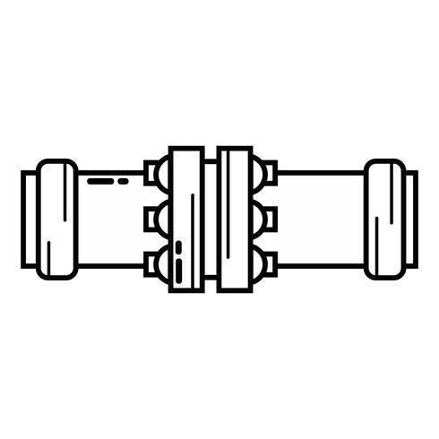ligne construction de matériel de réparation de tubes de plomberie vecteur