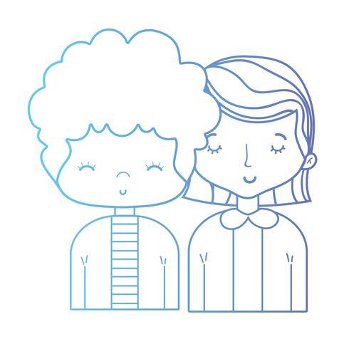 ligne beauté couple ainsi que la conception de coiffure vecteur