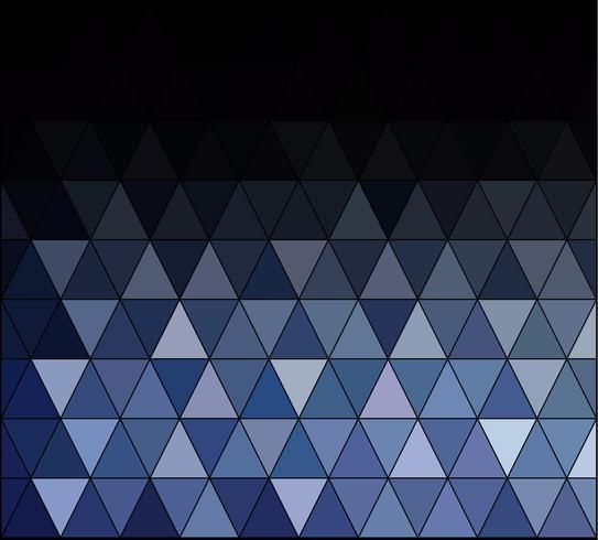 Fond de mosaïque de grille carrée bleue, modèles de conception créative vecteur