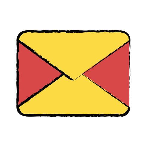 message de carte de lettre fermé avec information de document vecteur