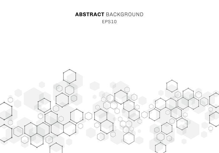 Résumé structure de la molécule hexagonale du système de neurones. Fond de technologie numérique avec espace de copie. Modèle géométrique futur. vecteur