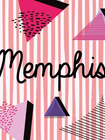 Design de fond coloré de Memphis vecteur