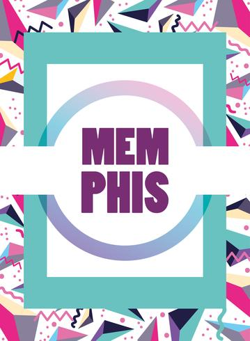 Modèle Memphis et arrière-plan vecteur