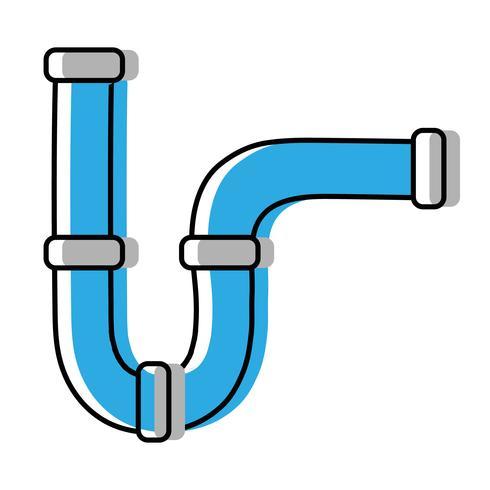 construction de matériel de réparation de tubes de plomberie vecteur