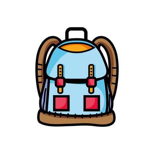 objet sac à dos avec conception de poches et de fermetures vecteur