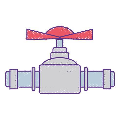 construction de matériel de réparation de tubes de plomberie râpé vecteur