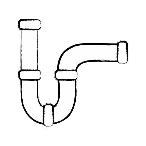 figure construction de matériel de réparation de tubes de plomberie vecteur