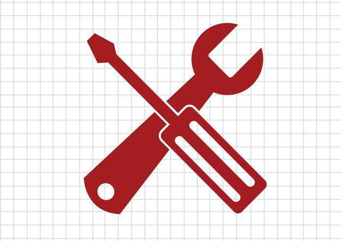 Icône d'outils Symbole Signe vecteur