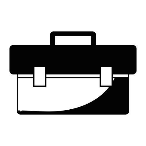 équipement de boîte à outils de contour pour réparer la construction vecteur